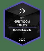 2020 SuitePad Winner Badge HotelTech Awards