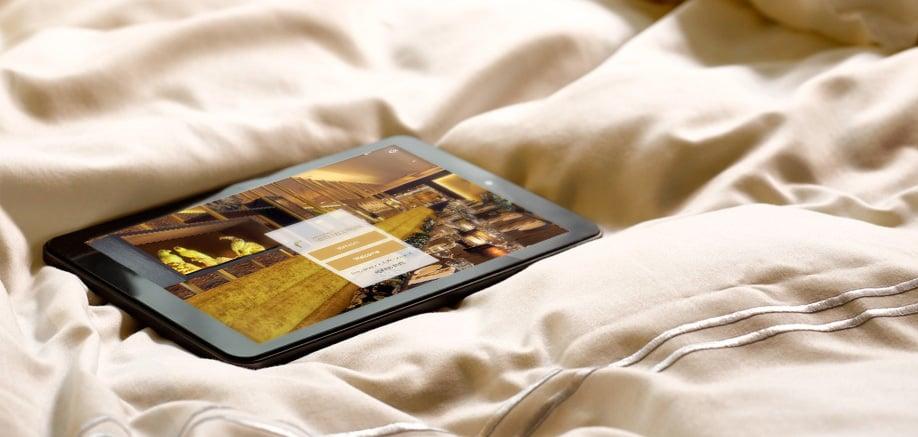 SuitePad Tablet im Van der Valk Ridderkerk Rotterdam
