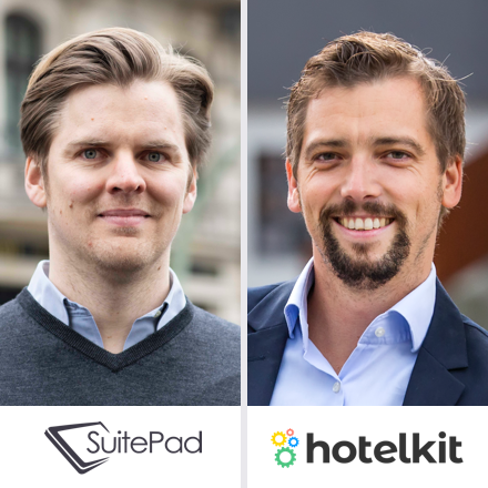 SuitePad hotelkit Partner Webinar Referenten Moritz von Petersdorff-Campen und Marius Donhauser